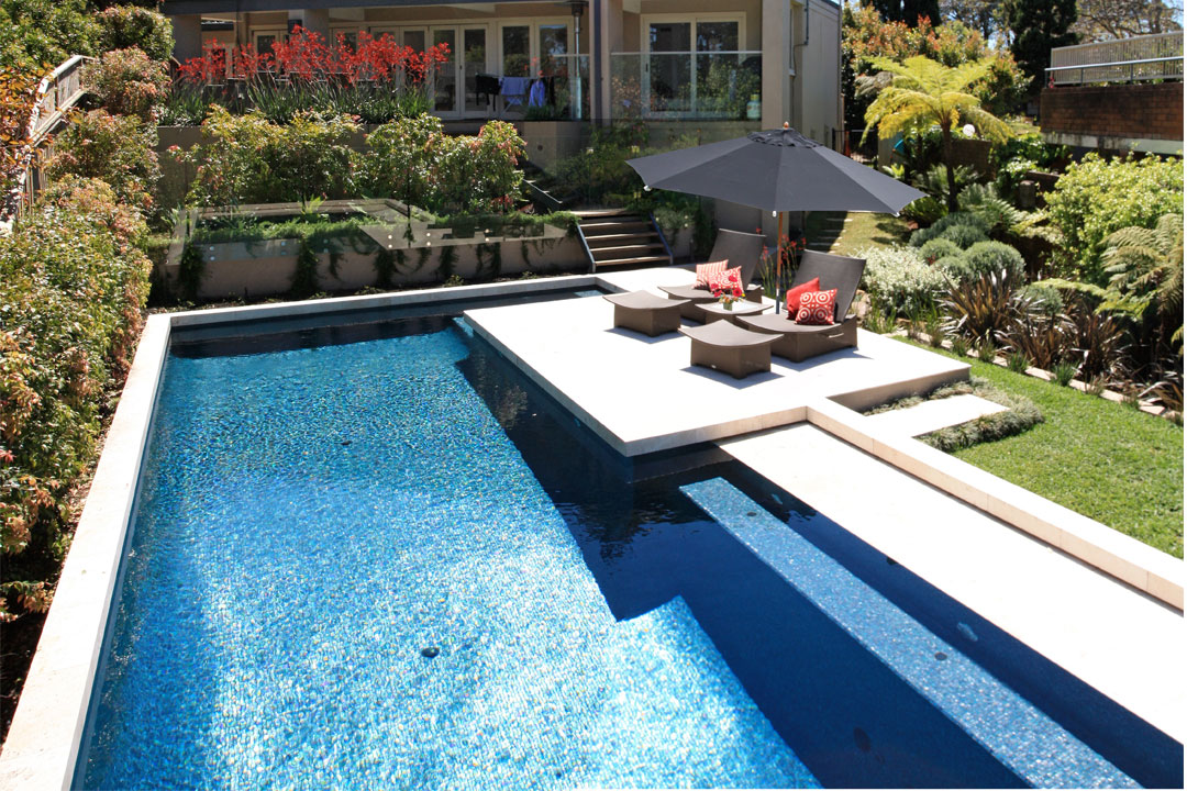 A total concept landscape architects cabana pool for Pool design sydney