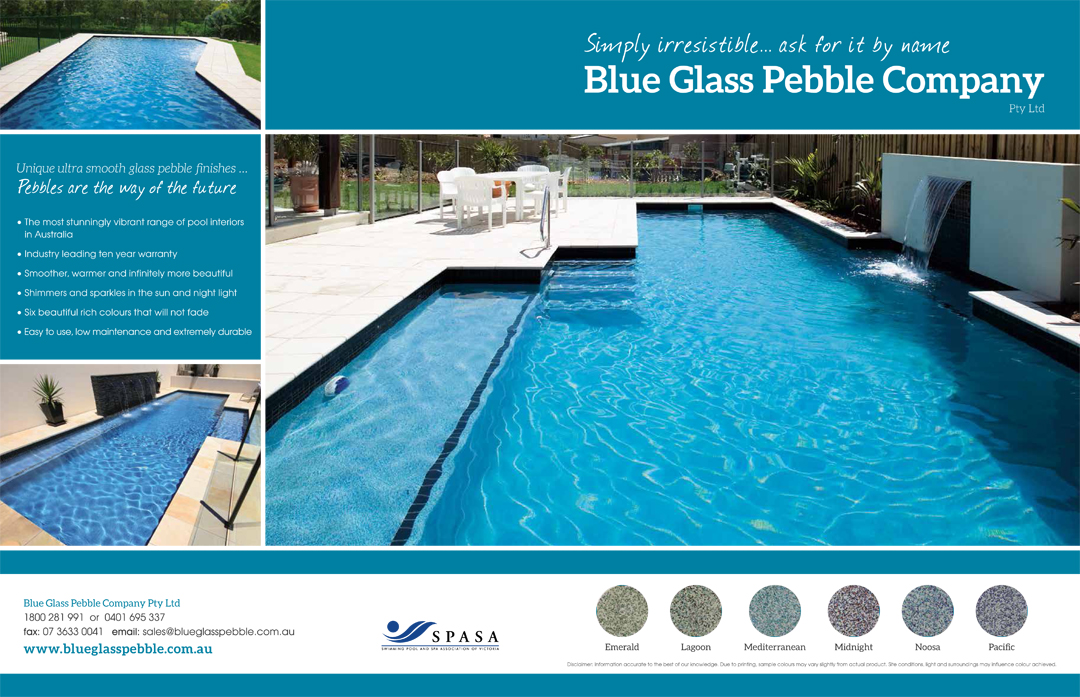 Blue Glass Pebble Company - Sydney Pool and Outdoor Design