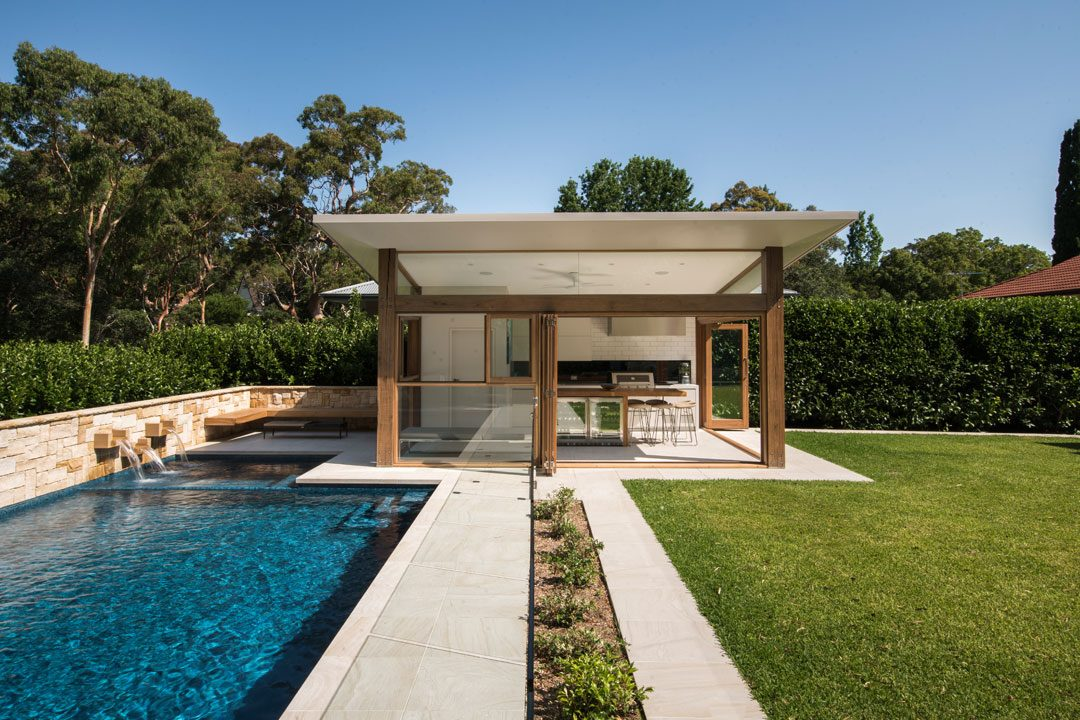 A total concept landscape architects cabana pool for Pool design concepts